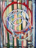 "Abstract Painting: James Homer Brown - Colorful Painting named ""O-Rings"""