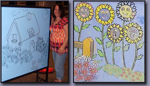 Lori Borraccio Morris: Mural Artist. Custom designed mural boards for the Novi Home Show.